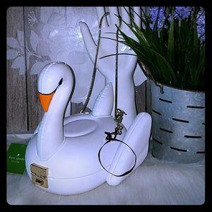 Kate spade 3d swan pool float clutch bag